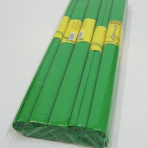 Krepový papír - role / 50 x 200 cm / zelená