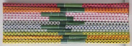 Krepový papír - sada 10 ks / tečkovaný