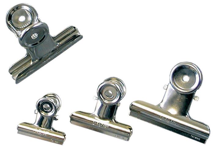 Klipy kovové stříbrné - 75 mm