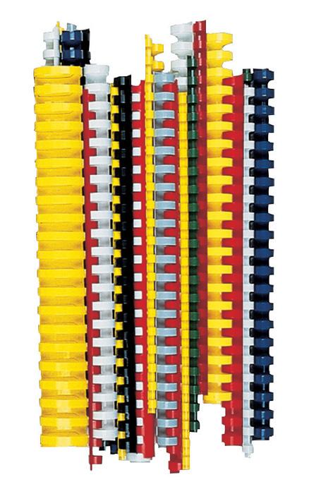 Hřbety pro kroužkovou vazbu - 16 mm / červená / 100 ks
