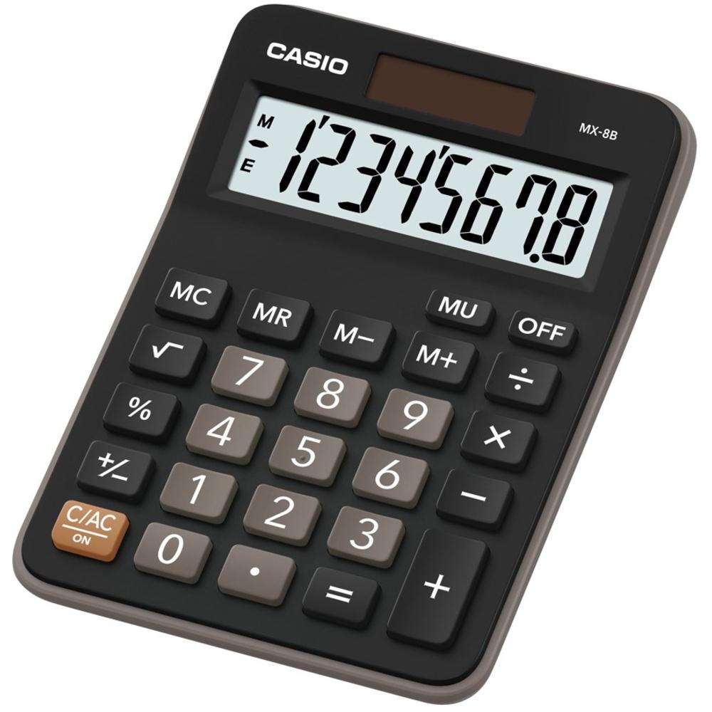 Casio MX 8 B BK stolní kalkulačka displej 8 míst