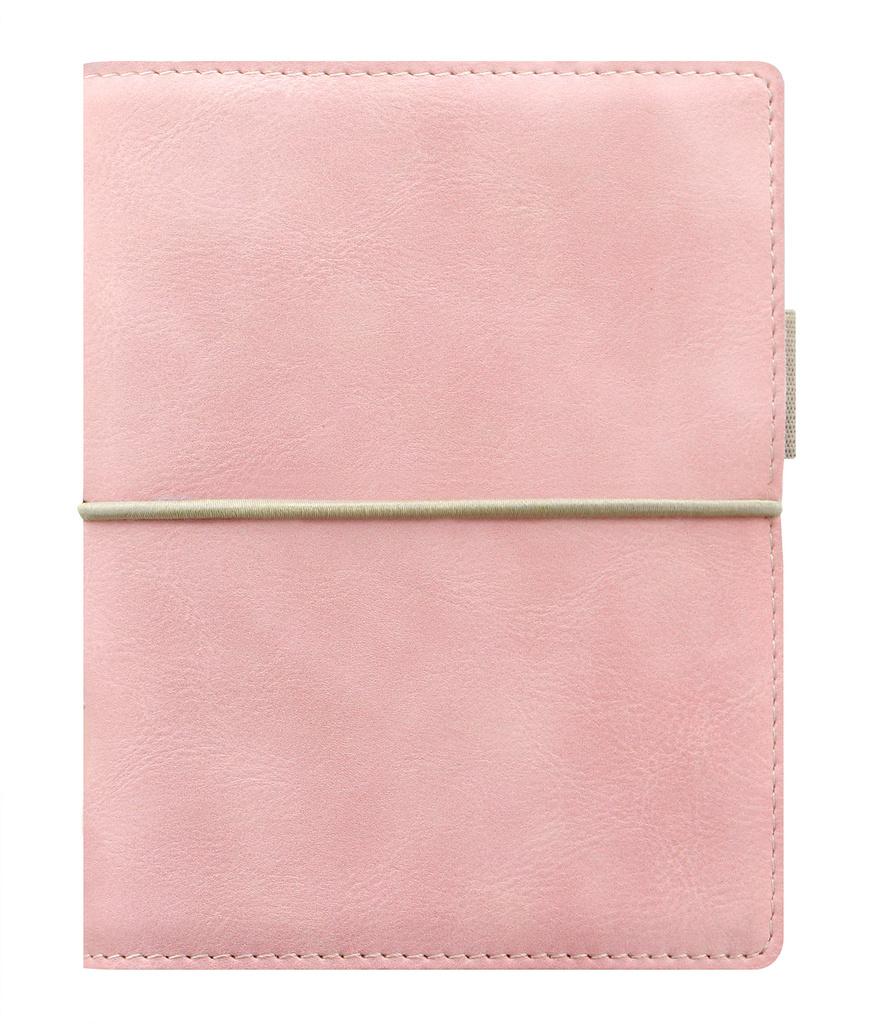 Diář Filofax Domino Soft - kapesní týdenní pastelová růžová