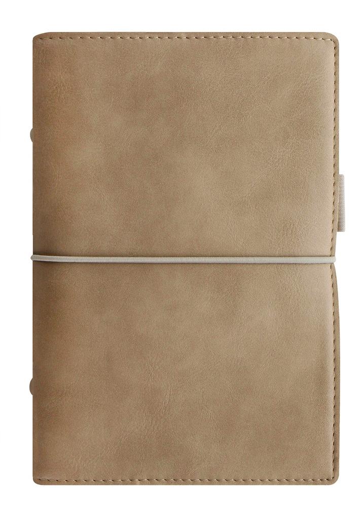 Diář Filofax Domino Soft - osobní / 95 x 171 mm / pastelová hnědá