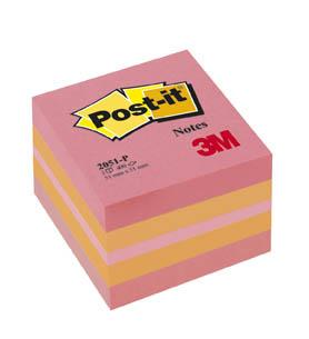Samolepicí bločky Post-it minikostky - růžová / 400 lístků