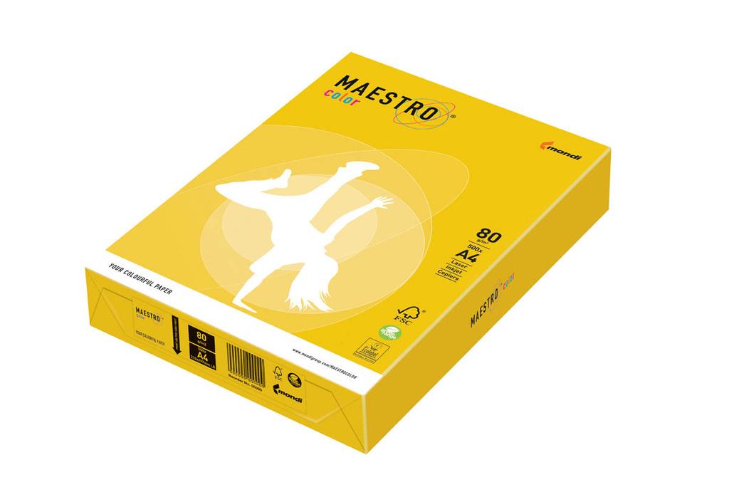 Xerografický papír BAREVNÝ - IG50 sevilla / sytá žlutá / 500 listů