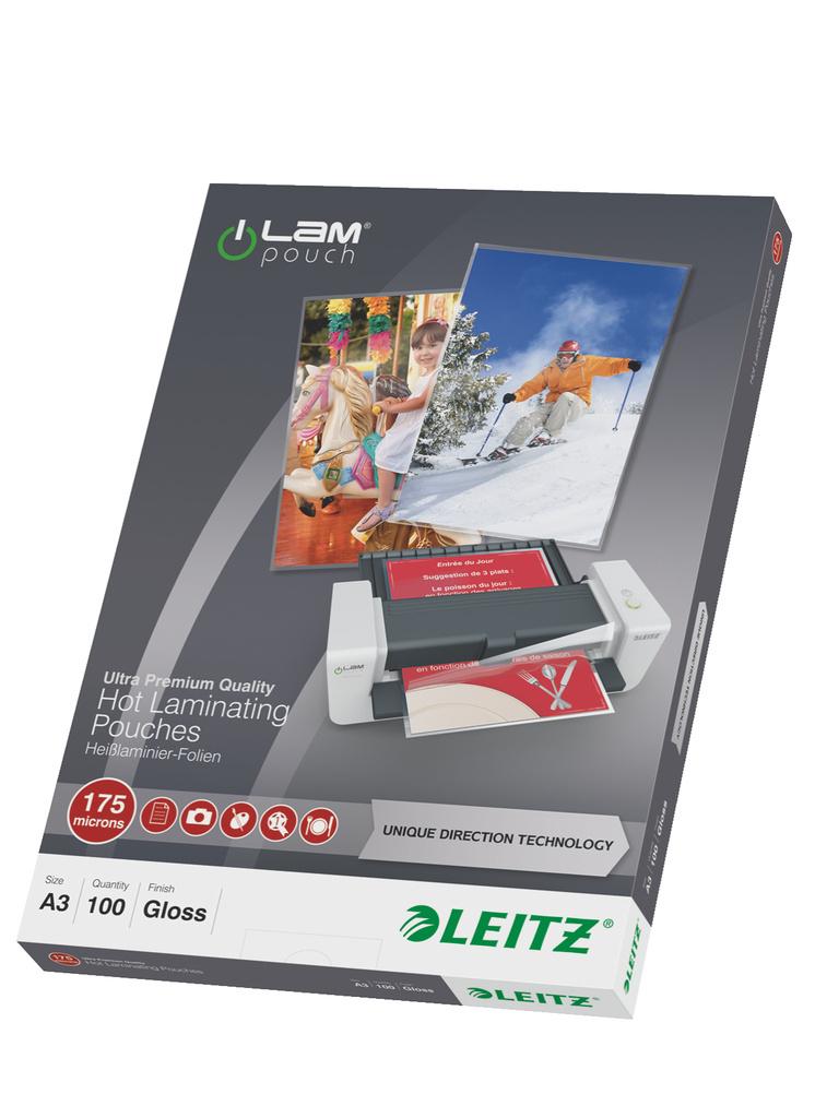 Laminovací pouzdra Leitz iLam - A3 175 mic / 100 ks