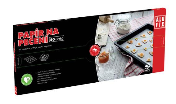 Papír na pečení Alufix v krabičce - 33 x 42 cm / 50 ks