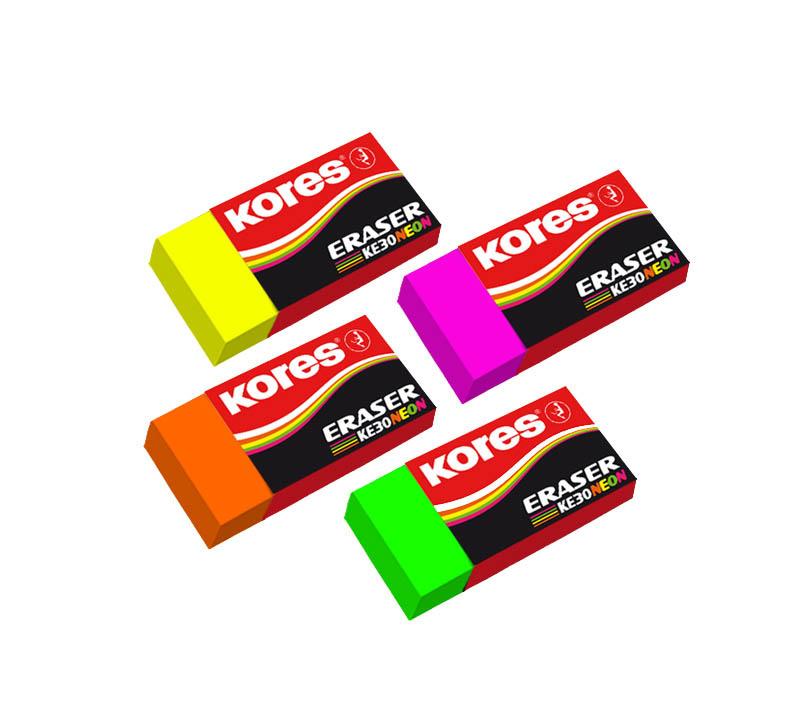 Pryž Kores měkká KE30 NEON -  barevný mix