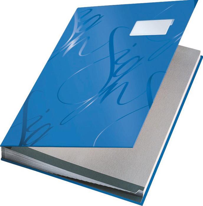 Designová podpisová kniha - modrá