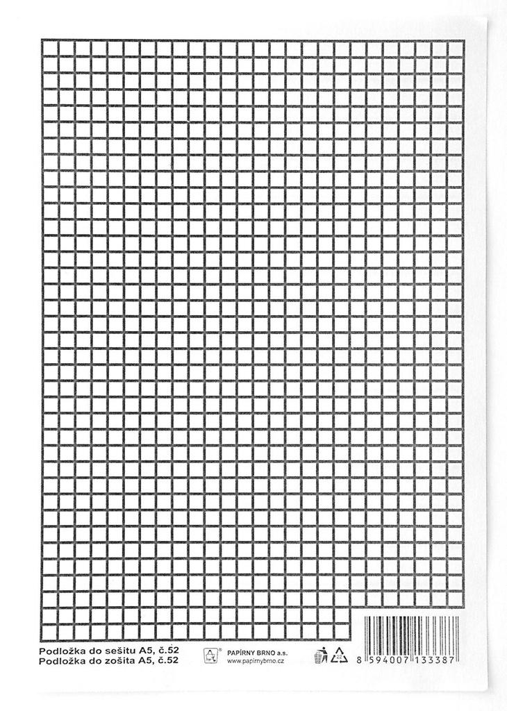 Podložky do sešitů A4 Auttep papírová - linka / čtvereček