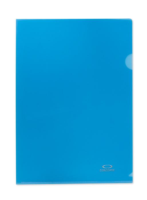 Zakládací obal A4 barevný - tvar L / modrá / 10 ks