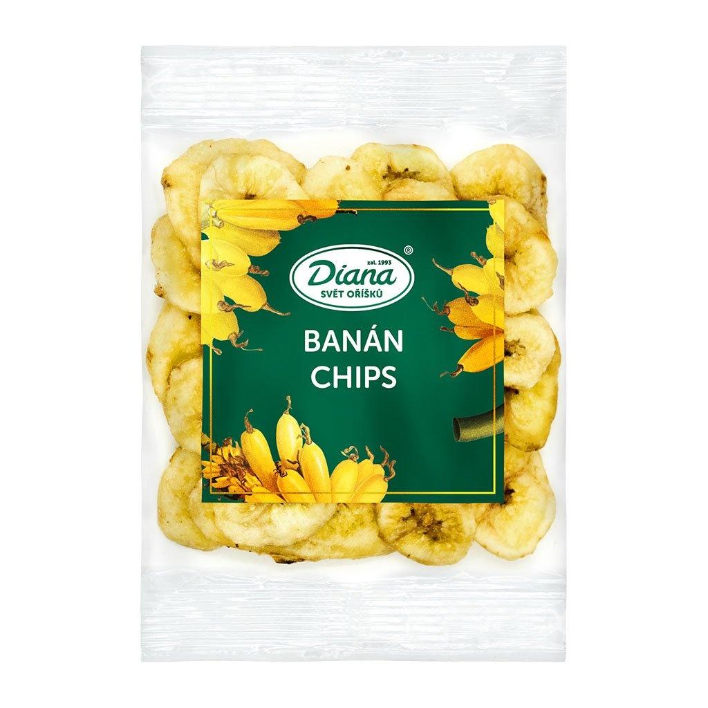 Sušené ovoce a oříšky - banánové plátky