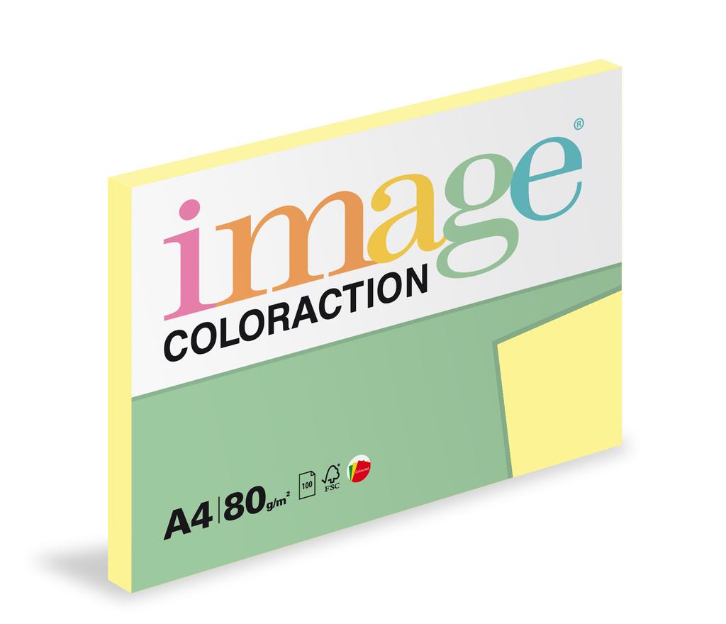 Xerografický papír BAREVNÝ - Desert / pastelové žlutá / 100 listů / YE23