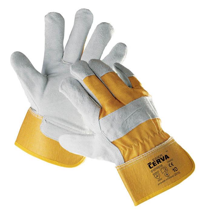 Ochranné rukavice kombinované - EIDER / vel.10 žlutá