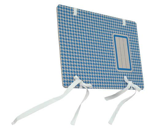 Spisové desky s tkanicí Emba s potiskem - modrá