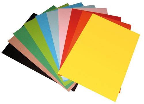 Barevný karton sada - A4 / 160 g / 100 listů / barevný mix