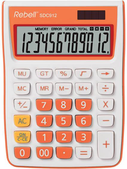 Rebell SDC912 stolní kalkulačka displej 12 míst oranžová