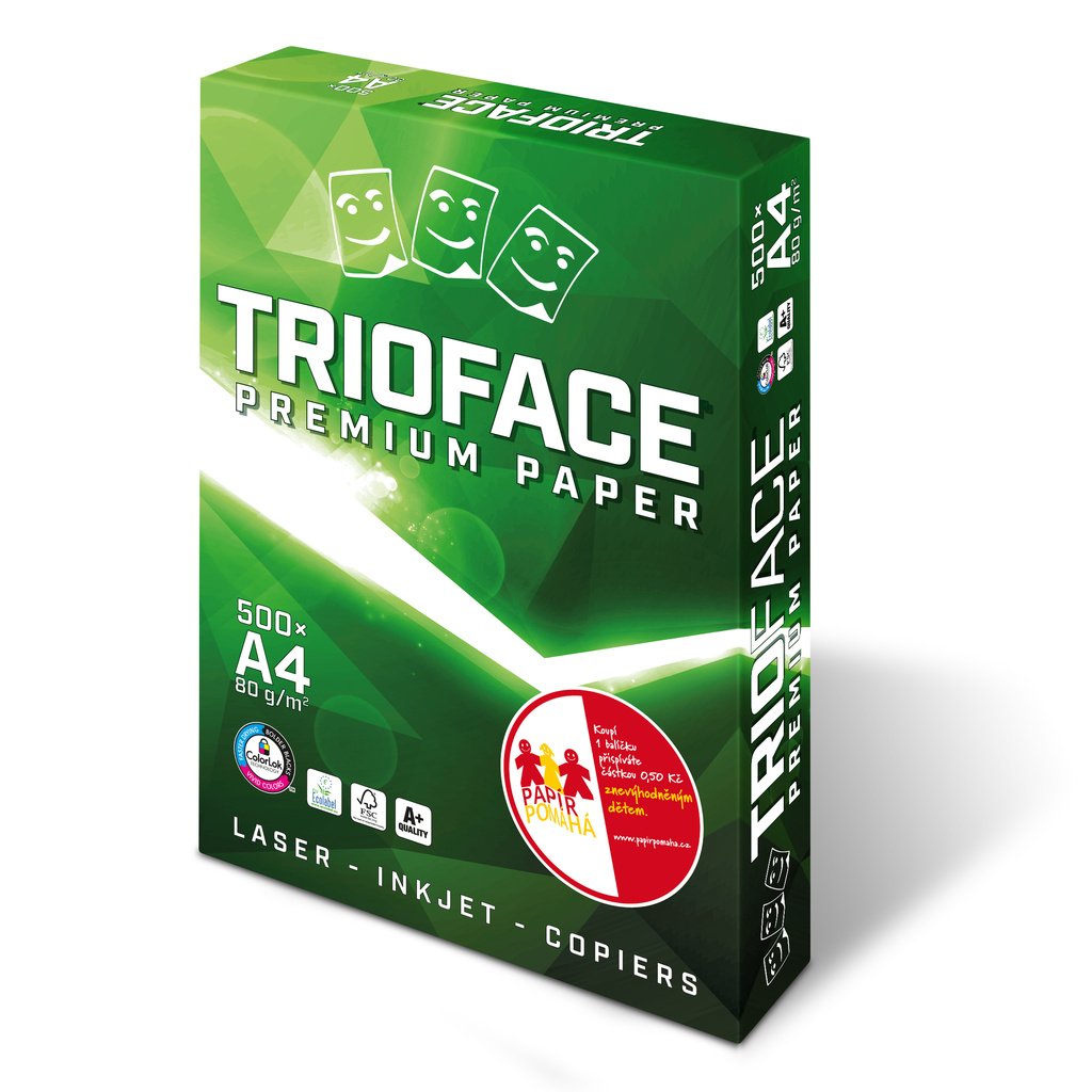 Xerografický papír TRIOFACE PREMIUM A - A4 80 g / 500 listů