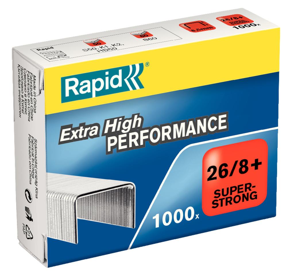 Spojovače Rapid - 26 / 8+ / 1000ks / Super Strong