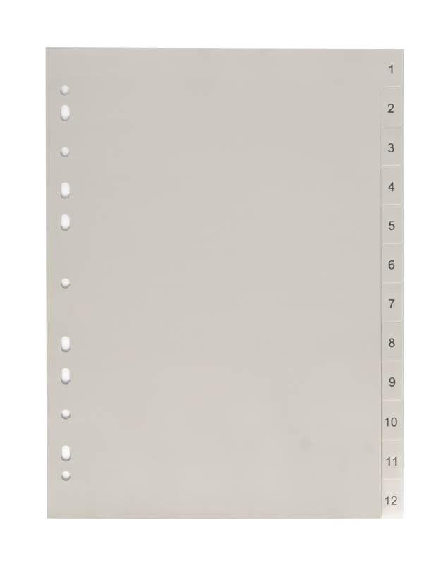 Rozdružovač A4 plastový šedý - 1 - 12