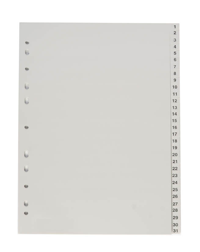 Rozdružovač A4 plastový šedý - 1 - 31