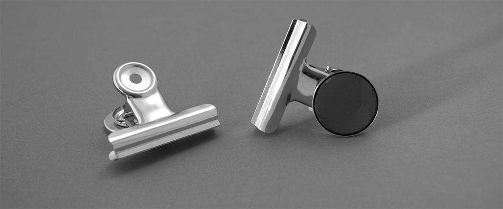 Klipy kovové stříbrné - 31 mm + magnet