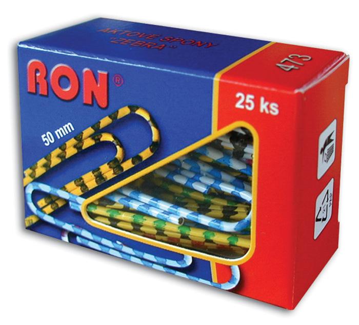 Aktové spony RON - 50 mm / 25 ks zebra