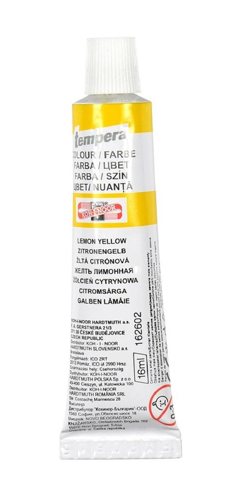 Temperové barvy - žluť citrónová / tuba 16 ml
