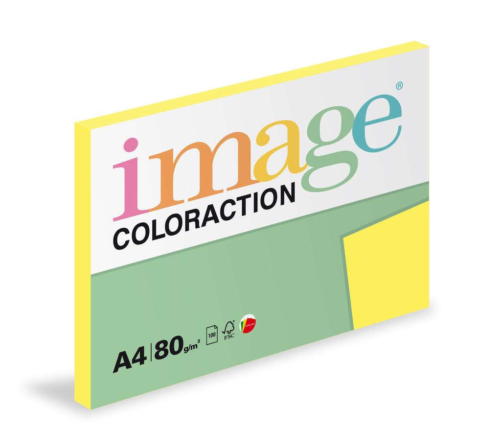 Xerografický papír BAREVNÝ - Canary/ středně žlutá / 100 listů / CY39