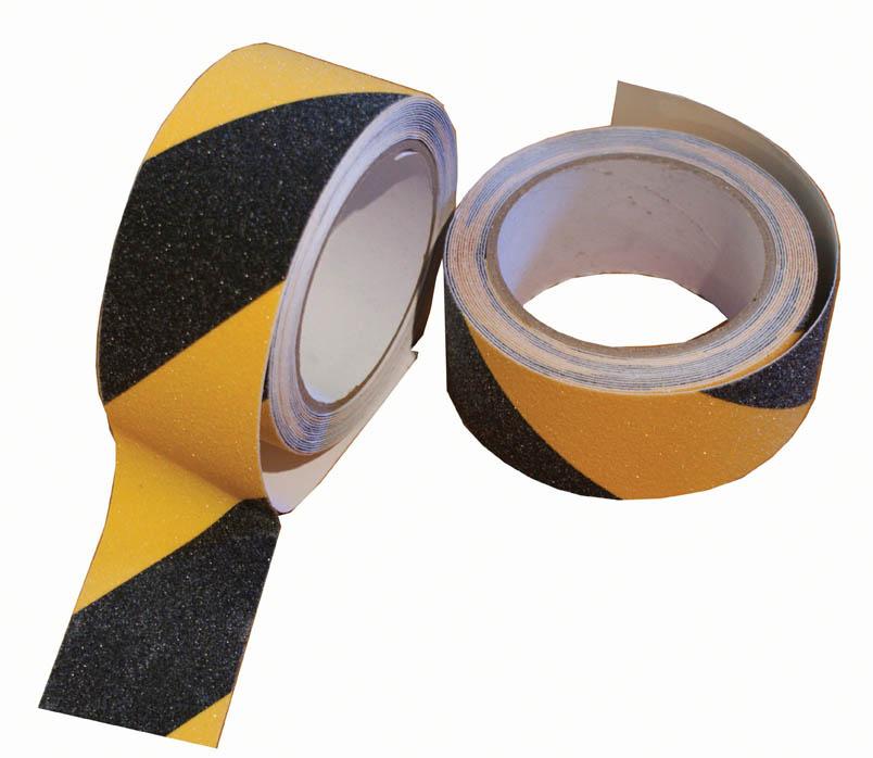 Lepicí páska bezpečnostní - 50 mm x 5 m / žluto-černá
