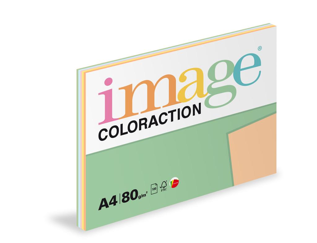 Xerografický papír BAREVNÝ - set 5 x 20 listů pastelové barvy / mix 5barev