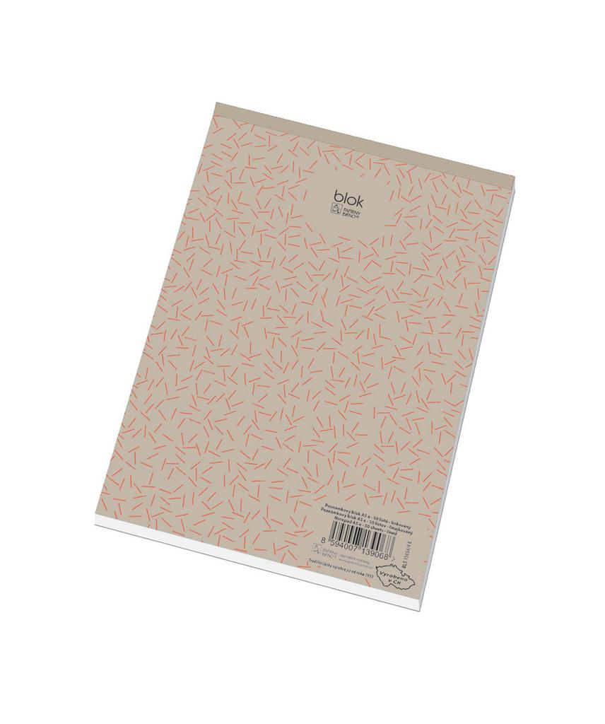 Blok šitý recyklovaný - A6 / čtvereček
