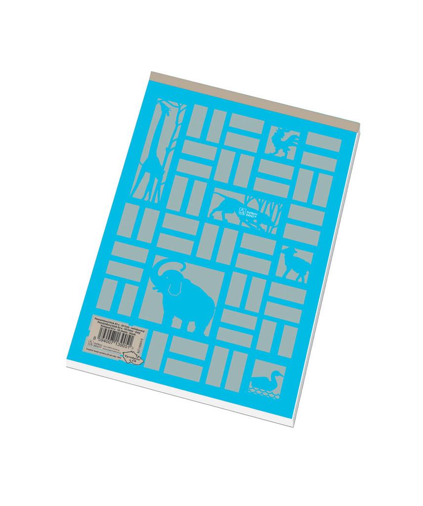 Blok šitý recyklovaný - A6 / čistý