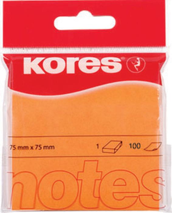 Samolepicí bloček Kores neon - oranžová