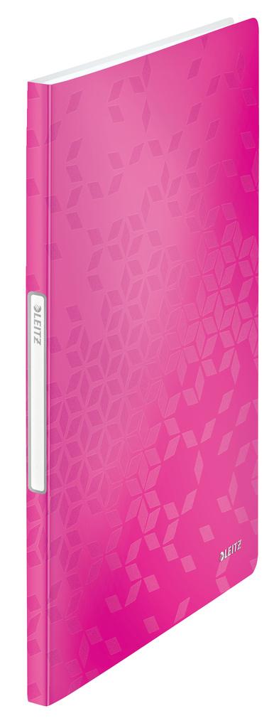 Prezentační desky A4 WOW - 20 kapes / růžová