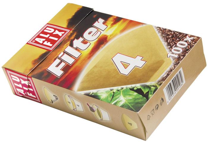 Filtry na kávu Alufix - č. 4 / 80 ks