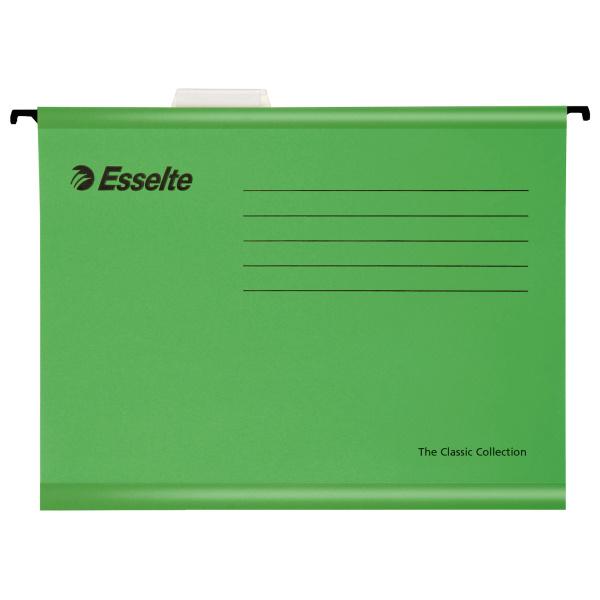 Závěsné desky Esselte Classic Collection - zelená