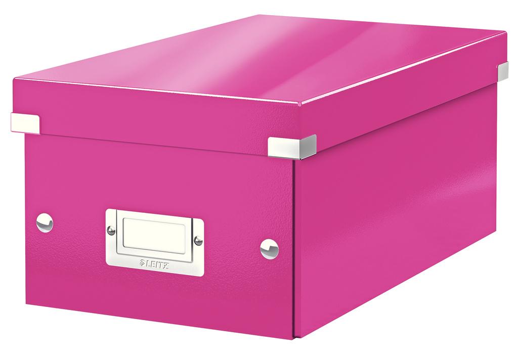 Krabice Leitz Click & Store - na DVD / růžová