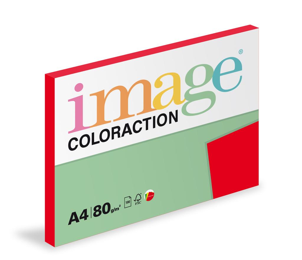 Xerografický papír BAREVNÝ - Chile/ jahodově červená/ 100 listů / CO44
