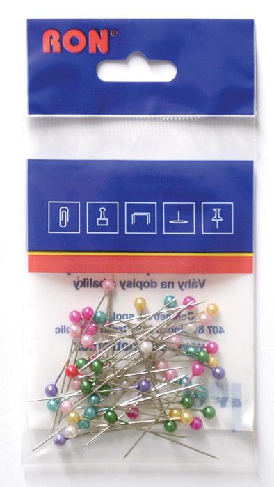 Špendlíky barevné - 50 ks