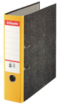 Esselte pákový pořadač A4 papírový s barevným hřbetem 7,5 cm žlutá