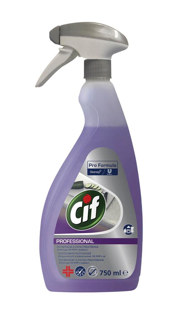 Cif Professional čistič / dezinfekce - 750 ml s rozprašovačem
