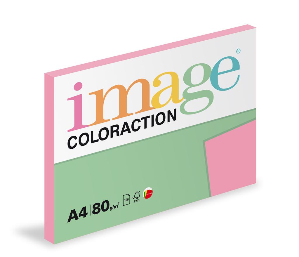 Xerografický papír BAREVNÝ - Coral / starorůžová / 100 listů / PI25