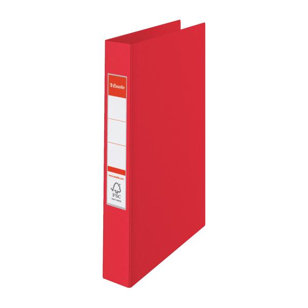 Esselte pořadač A4 kroužkový celoplastový 4,2 cm 4-kroužek červená