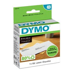 Štítky pro DYMO LabelWritter - 89 x 28 mm / adresové papírové / 1 x 130 ks