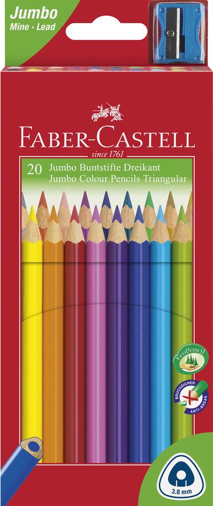 Pastelky Faber Castell Junior TRIANGULAR - 20 barev