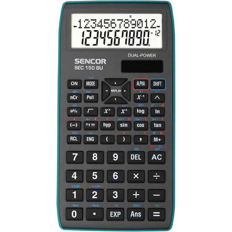 Kalkulačka Sencor SEC 150 BU - displej 10+2 místa