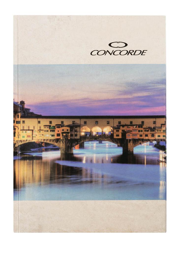 Kniha záznamní lepená Concorde - A5 / linka / 100 listů