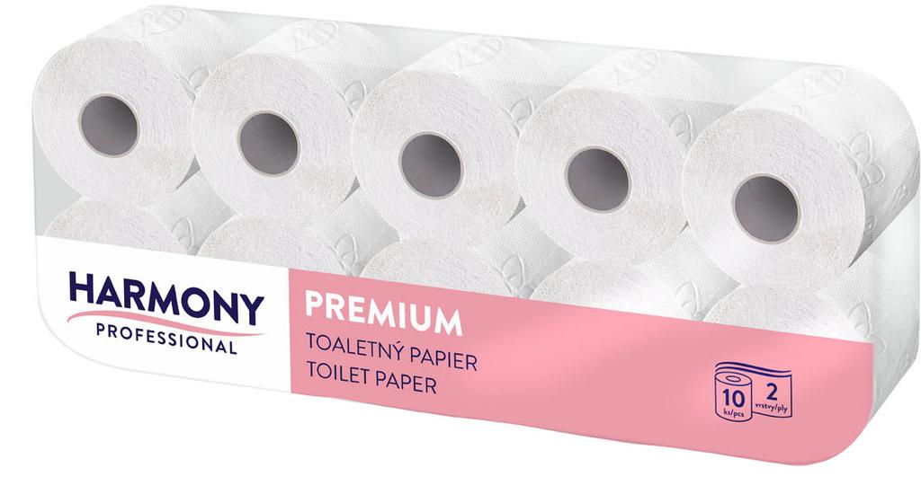 Toaletní papír Harmony Professional - 10 rolí / dvouvrstvý / 100% celulóza