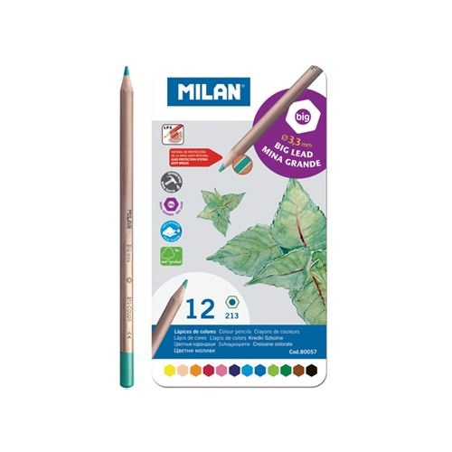 Pastelky Milan v plechové krabičce -  12 barev